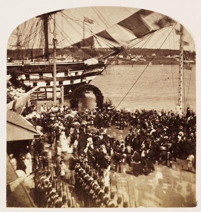 'Landing HRH Prince Arthur', 1860.
