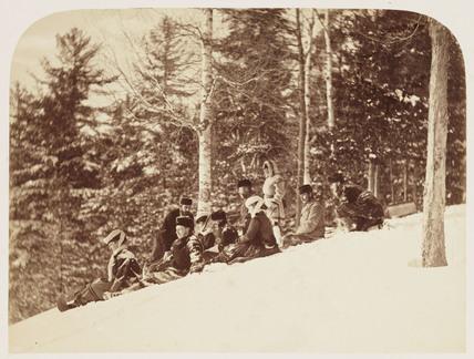 'Tobogganing', 1860.