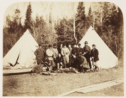 'Prince Arthur's Hunting Party', 1860.