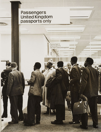 Nigerian immigrants, London Airport, 1 July 1962.