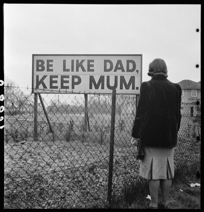 'Be like Dad, keep Mum', c 1940s.