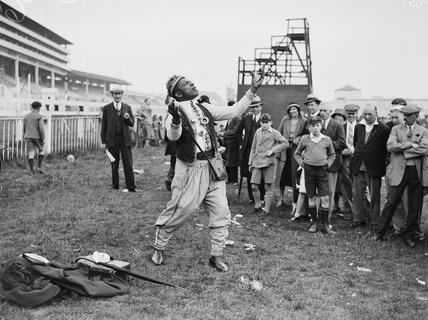 Prince Monolulu the tipster at work, Epsom Races, Surrey, 28 May 1933.