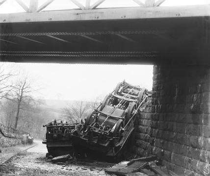 Railway accident, c 1890.