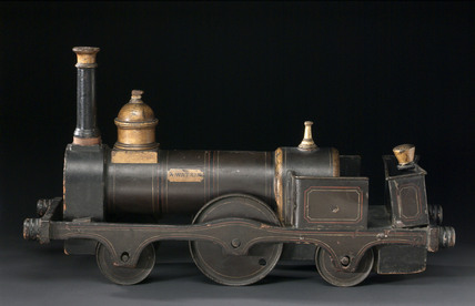 Model locomotive, 2-2-2 locomotive No 1 'A Watkin', c 1866.