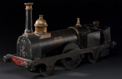 Model locomotive, 2-2-2 locomotive No 1 'A Watkin', c 1866.