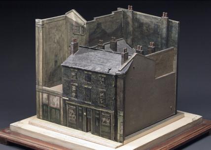 Model of a slum court off Preston Street, Liverpool, c 1910