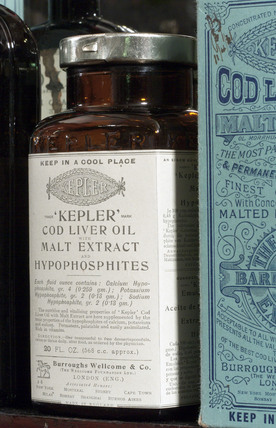 Kepler cod liver oil with malt extract, late 19th early 20th century.