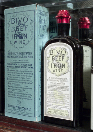 Bivo beef and iron wine, late 19th early 20th century.