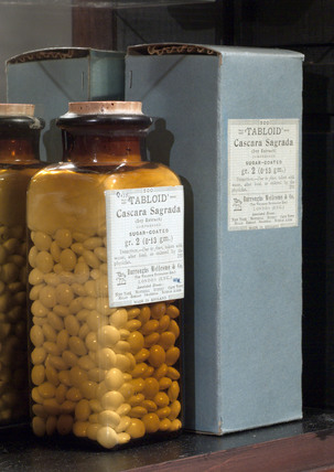 Tabloid sugar coated cascara sagrada, late 19th early 20th century.