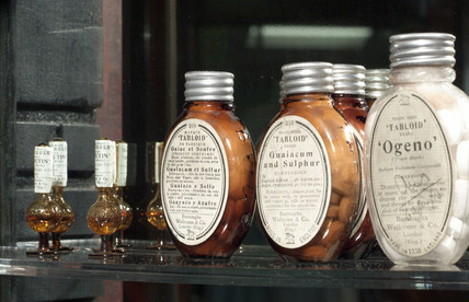 Bottles containing medicine by Burroughs Wellcome & Co, 1900-1930.