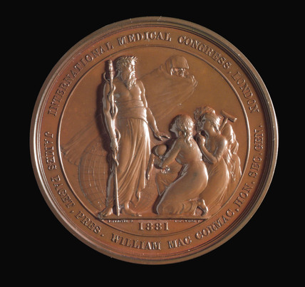 International Medical Congress medal, London, 1881.