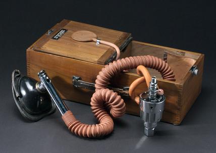 Anaesthetic machine.