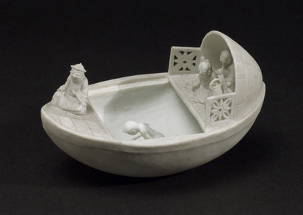 Boat with lovers, Chinese.
