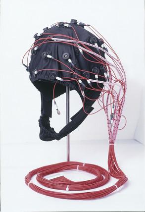 Electroencephalography (EEG) cap, 1999.