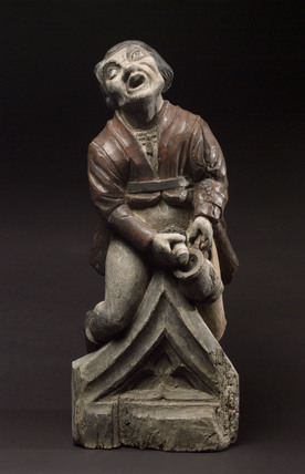 Figure of man urinating into a jug, French, 1600-1750.
