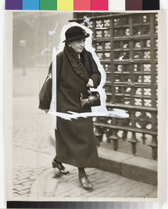 Eleanor Rathbone MP walking down the street, London, 22 October 1935.