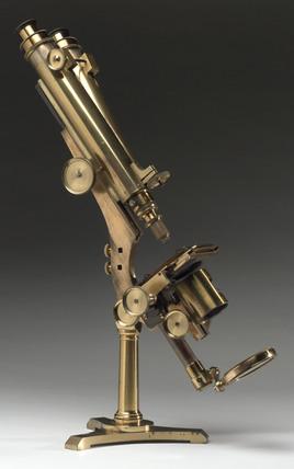 Compound binocular microscope, 1866.