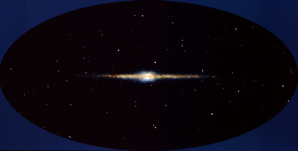 COBE satellite's view of the Milky Way, 11 February, 1990.