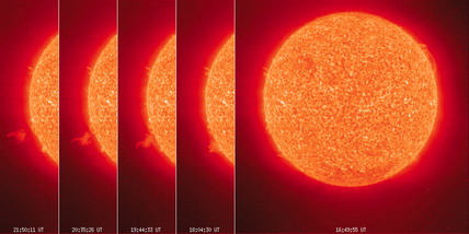 Series of images of the Sun, 1996.
