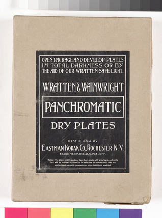 Wratten & Wainwright photographic plates, c 1910.