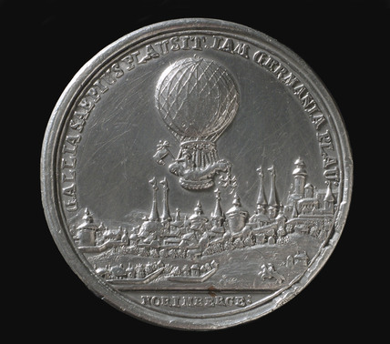 Medal commemorating the balloon ascent of Blanchard, Germany, 1787.