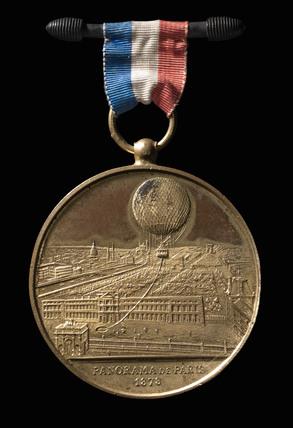 'Panorama of Paris', souvenir medal, 1878.