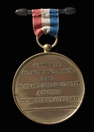 Souvenir ballooning medal, 1878.