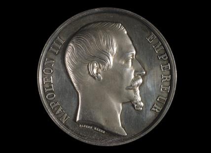 Napoleon III, Paris Exposition medal, 1855.