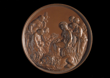 Medal awarded to Ludwig and Henry oertling for chemical balances, 1862.