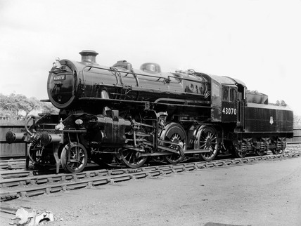 Ivatt 4MT locomotive of the BR 43070 class, Darlington.