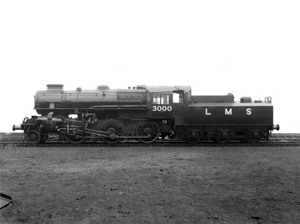 Ivatt 4MT locomotive of the LMS 3000 class, Derby, 13th December 1947.