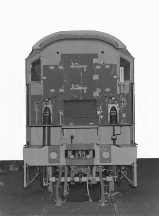 Ivatt 4MT locomotive of the LMS 3000 class, Derby, 13th January 1948.