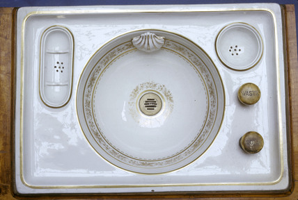 Washbasin from Queen Victoria's coach, photographed April 1966.