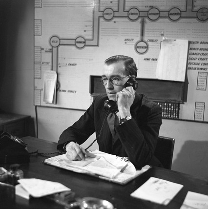 Telephoning the days orders at the City Office of Grand Union Canal, 1950.