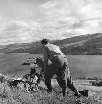 BTF production crew filming in Scotland, 1951.