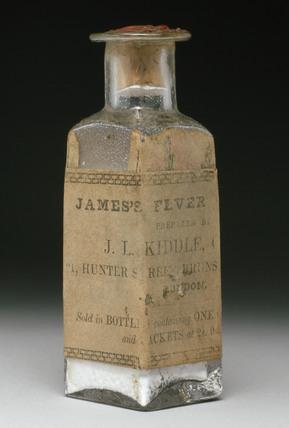Bottle of James's Fever Powder, 1900-1940.