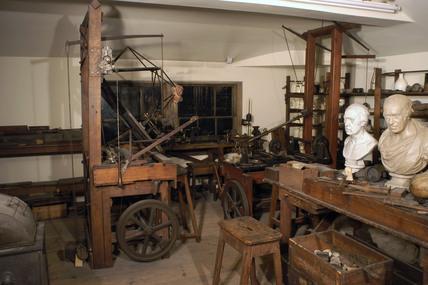 James Watt's garret workshop, 1790-1819.