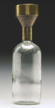 Rain gauge, five-inch funnel and collecting jar, 1840-1860.