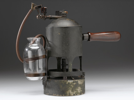 Carbolic steam spray, c 1867.