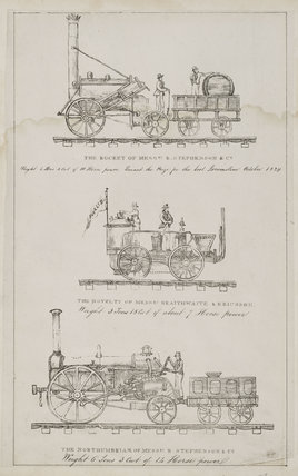 Three early locomotives, 1831.