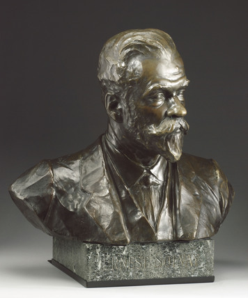 Bust of Ernest Solvay, Belgian industrial chemist, 1913.