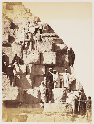 'Party ascending the Great Pyramid of Gizeh', 1882.