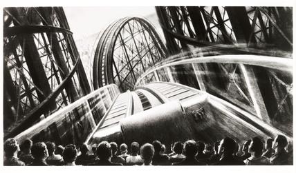 Promotional artwork for Cinerama, 1952.