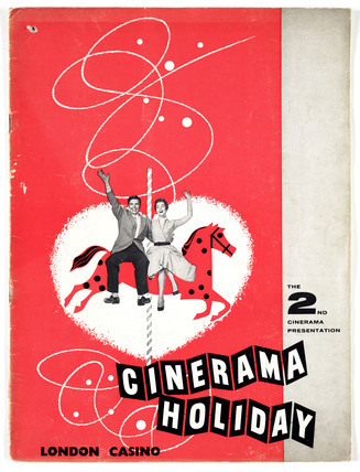 Souvenir booklet for 'Cinerama Holiday', 1955.