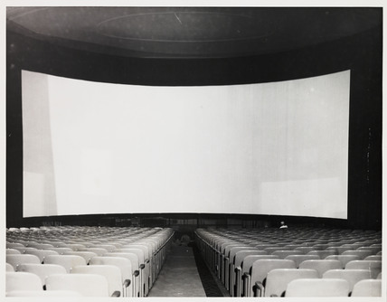 Cinerama screen, 1952.