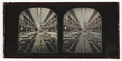 Stereo-daguerreotype of the Crystal Palace, Sydenham, c 1855.