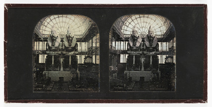 Stereo-daguerreotype, North Transept, Crystal Palace, Sydenham, c 1855.