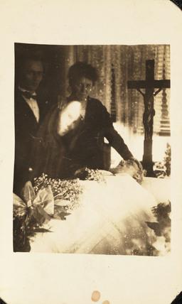 Mourning scene, c 1920.