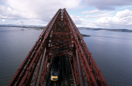 The Forth Bridge over the Firth of Forth, 2000.