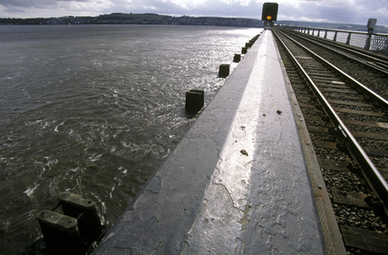 Tay Bridge over the Firth of Tay, 2000.